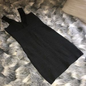 Black shimmer bandage wrap style dress